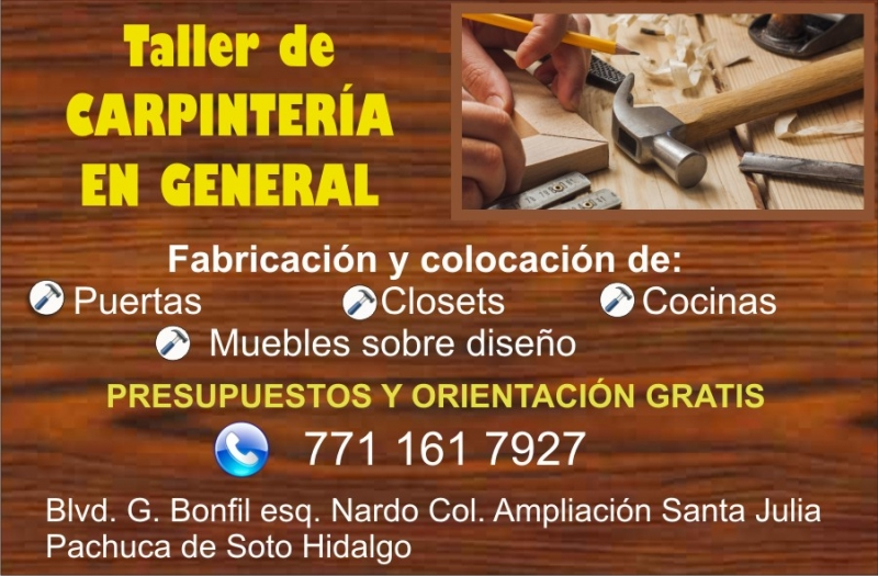 Taller de carpintería en general